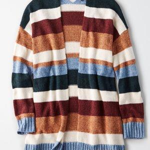 American Eagle striped cardigan